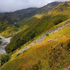 The climb towards Kalihani Base Camp