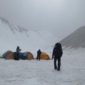 Dzo Jongo Base Camp on the glacier.