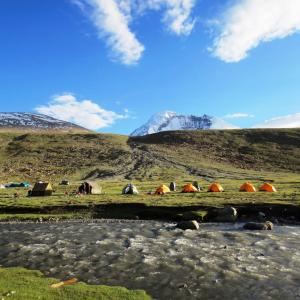 Beautiful Nimaling Campsite by the river.