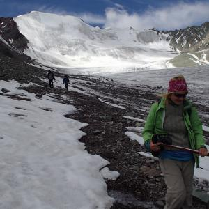 On the glacier of Stok Kangri.